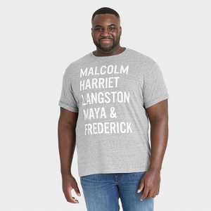 Black History Month Men's Names Short Sleeve T-Shirt