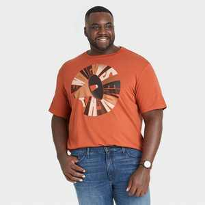 Black History Month Men's 'Enough is Enough' Short Sleeve T-Shirt - Red Brick