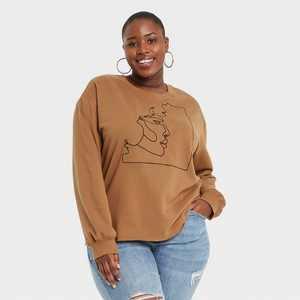 Black History Month Women's Silhouette Sweatshirt - Brown