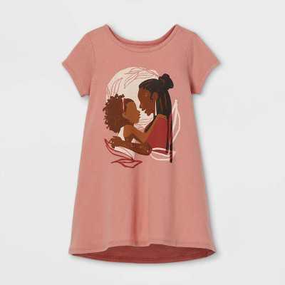 Black History Month Toddler Mother/Daughter Dress - Pink Rose