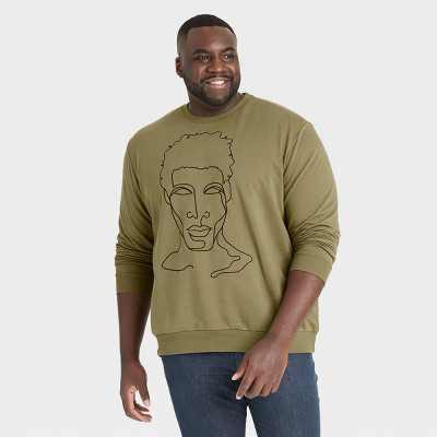 Black History Month Men's Silhouette Sweatshirt - Green