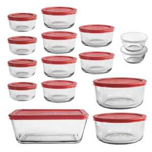 Anchor Hocking 30pc Glass Food Storage Set with Cherry Lids