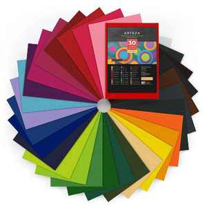 "ARTEZA Adhesive Felt Fabric Sheets, Assorted Colors, 8.3"" x 11.8"" - Set of 30"