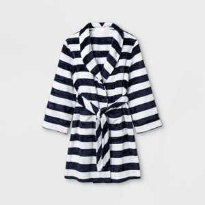 Boys' Striped Robe - Cat & Jack Navy/White