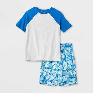 Boys' 2pc Shark Print Pajama Set - Cat & Jack Gray/Blue