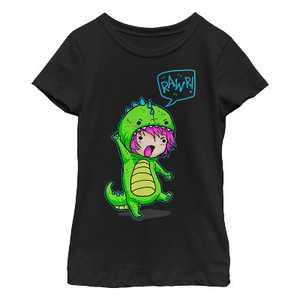 Girl's Lost Gods Halloween Dinosaur Costume T-Shirt