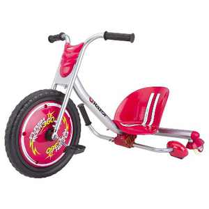 Razor Flash Rider 360 Drifting Spark Kids Trike Ride On Big Wheel Caster Wheels Tricycle Scooter Toy, Red