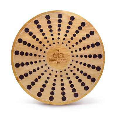 Kinderfeets Bamboo Wooden Round Balance Board Disk for Toddlers, Kids, Teens, and Adults