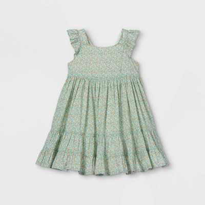 OshKosh B'gosh Toddler Girls' Floral Tank Dress - Blue