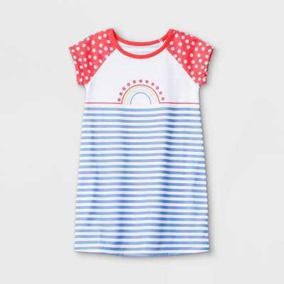 Toddler Girls' Rainbow Nightgown - Cat & Jack White