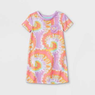 Toddler Girls' Tie-Dye Nightgown - Cat & Jack Lilac