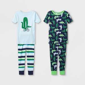 Toddler Boys' 4pc Alligator Snug Fit Pajama Set - Cat & Jack Green