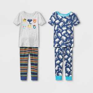 Toddler Boys' 4pc Safari Animals Snug Fit Pajama Set - Cat & Jack Gray