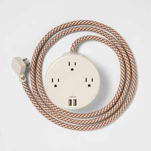 heyday™ 3-Outlet Surge Protector with 6' Extension Cord- Stone White