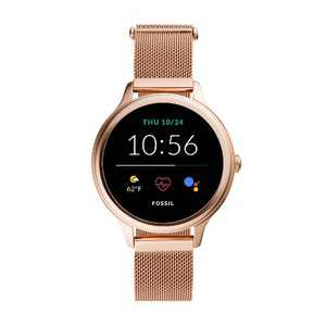 Fossil Gen 5E Smartwatch 42mm - Rose Gold-Tone Stainless Steel Mesh