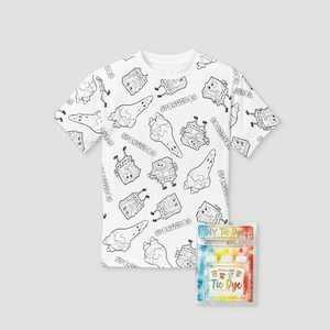 Kids' SpongeBob SquarePants Short Sleeve Graphic T-Shirt with Tie-Dye Kit - White
