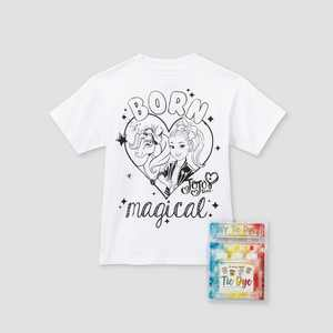 Kids' JoJo Siwa Born Magical Short Sleeve Graphic T-Shirt with Tie-Dye Kit - White