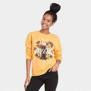 Women's Coca-Cola Graphic Sweatshirt - Yellow