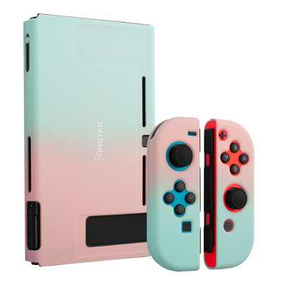 Insten for Nintendo Switch Dockable Protective Hard Case Cover Compatible with Nintendo Switch Console and Joycon, Pink Green Gradient
