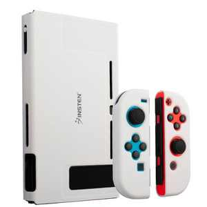 Insten for Nintendo Switch Dockable Protective Hard Case Cover Compatible with Nintendo Switch Console and Joycon, Milk White