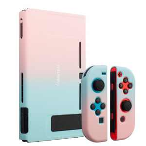 Insten for Nintendo Switch Dockable Protective Hard Case Cover Compatible with Nintendo Switch Console and Joycon, Pink Blue Gradient