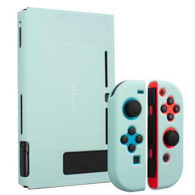 Insten for Nintendo Switch Dockable Protective Hard Case Cover Compatible with Nintendo Switch Console and Joycon, Matcha Green