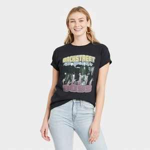 Women's Backstreet Boys Short Sleeve Graphic T-Shirt - Black