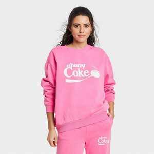 Women's Coca-Cola Cherry Coke Graphic Sweatshirt - Pink