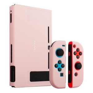 Insten for Nintendo Switch Dockable Protective Hard Case Cover Compatible with Nintendo Switch Console and Joycon, Cherry Pink
