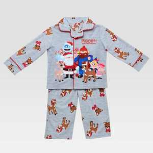 Toddler Boys' Rudolph the Red-Nosed Reindeer Pajama Set - Gray