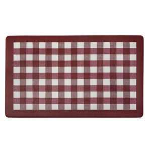 "1'6""x2'6"" Rectangle PVC (Polyvinyl Chloride) Floor Mat Red - GoodGram"