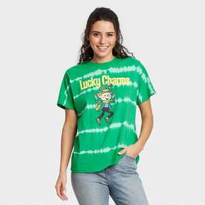 Women's Lucky Charms Short Sleeve Graphic T-Shirt - Green