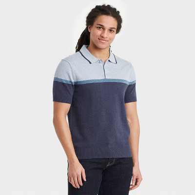 Men's Regular Fit Short Sleeve Sweater Polo Shirt -  Goodfellow & Co