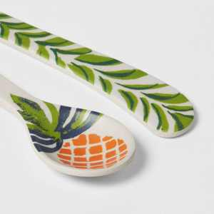 2pc Melamine and Bamboo Pineapple Spoon and Spreader Set - Opalhouse™