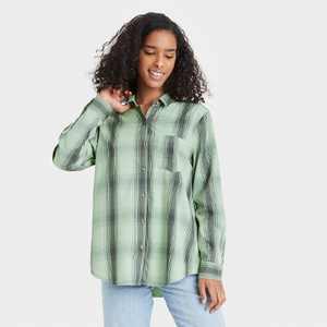 Women's Long Sleeve Button-Down Shirt - Universal Thread