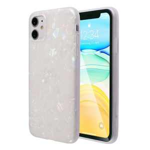 Insten Shell Glitter Pearly Case For iPhone, Bling Pearly-Lustre Slim Soft TPU IMD Cover