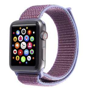 Insten Soft Woven Nylon Band for Apple Watch 38mm 40mm All Series SE 6 5 4 3 2 1, For Women Men Girls Boys Replacement Strap, Lilac Purple