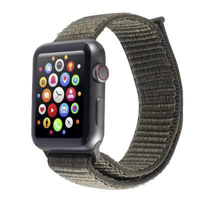 Insten Soft Woven Nylon Band for Apple Watch 38mm 40mm All Series SE 6 5 4 3 2 1, For Women Men Girls Boys Replacement Strap, Green