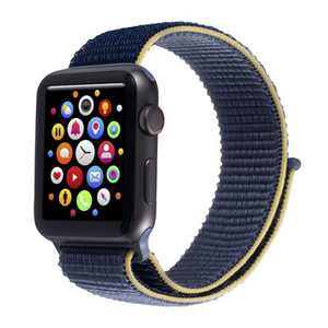 Insten Soft Woven Nylon Band for Apple Watch 42mm 44mm All Series SE 6 5 4 3 2 1, For Women Men Girls Boys Replacement Strap, Blue