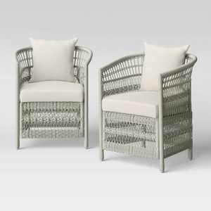Mulberry 2pk Patio Club Chair - Threshold