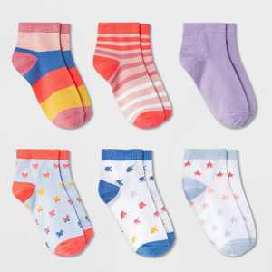 Girls' 6pk Unicorn Super Soft Ankle Socks - Cat & Jack