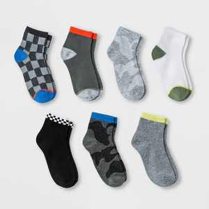Boys' 7pk Ankle Motocross Socks - Cat & Jack Colors May Vary