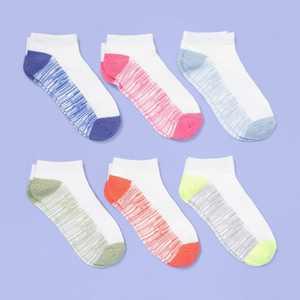 Girls' 6pk Super Soft No Show Socks - More Than Magic
