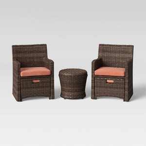 Halsted 5pc Wicker Patio Seating Set - Threshold