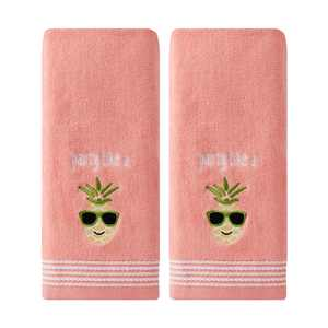 SKL Home Party Pineapple 2 Piece Hand Towel Set