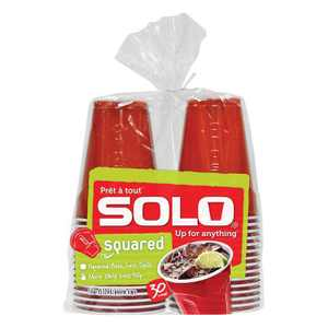 Solo Disposable Drinkware Cups - 30ct/18oz