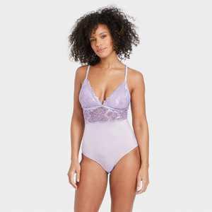 Women's V-Neck Bodysuit - Auden Violet