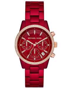 Women's Ritz Red Stainless Steel Bracelet Watch 37mm