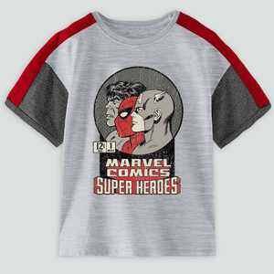 Toddler Boys' Marvel Superheroes Short Sleeve Graphic T-Shirt - Little Gray