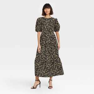 Women's Puff Short Sleeve Dress - Who What Wear